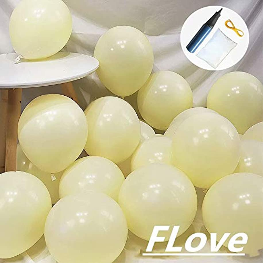FL 100pcs Pastel Latex Balloons 10 Inches Macaron Candy Colored Latex Party Balloons for Wedding Graduation Birthday Party Baby Shower Party Supplies Arch Balloon Tower(BALL002,Y)