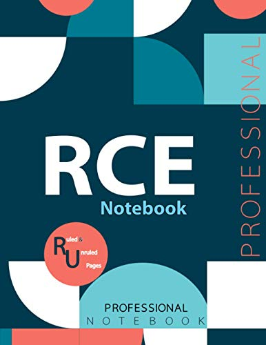 """RCE Notebook, Examination Preparation Notebook, Study writing notebook, Office writing notebook, 140 pages, 8.5"""" x 11"""", Glossy cover"""