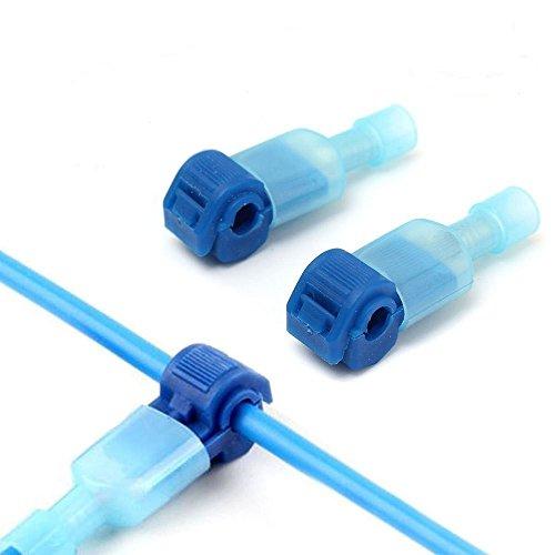 100PCS/(50 Pairs) red T Tap Conectores eléctricos- Terminal de cable aislado de cable rápido y juego de conectores macho de pala