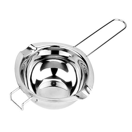 BESTONZON Super Double Boiler Pots Universaleinsatzpfanne 304 Edelstahl 2 Ausgießer Chocolate Schmelztiegel