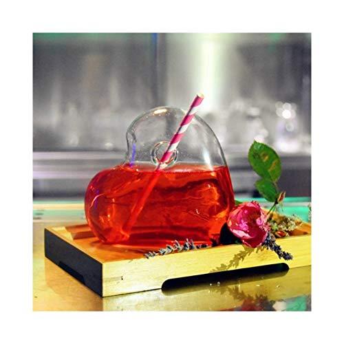 Creative Cocktail Coeur de verre transparent de petite capacité coeur Modeling verre Fantasy Football Coupe du Wine Bar Drinkware Verrerie Bière Couples