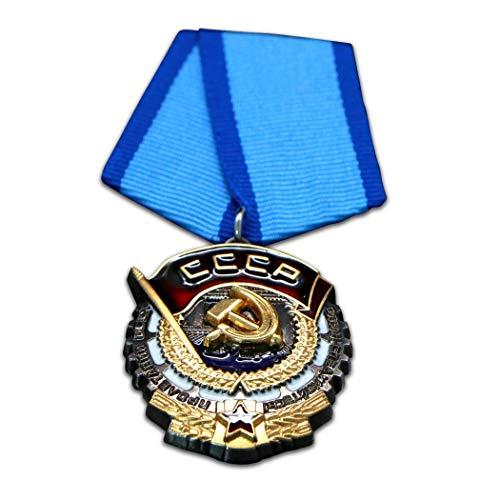 Kocreat La Orden de la Bandera Roja del Trabajo de la URSS - CCCP Medalla de la Bandera Roja Soviética - WW2 URSS Insignia Militar Medalla Recuerdos Pines de Solapa Réplica