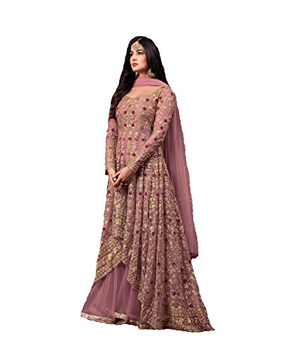 Delisa Net Latest Embroidered and with Beautiful Anarkali Designer...
