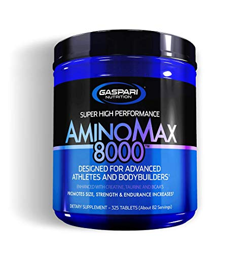 Gaspari Nutrition Aminomax 8000 | Amino Acids | Protein | Creatine | Increases in Size, Strength, and Endurance | 325 Tablets