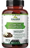Zazzee Essiac Tea, 180 Vegan Capsules, 500 mg per Capsule, Potent 4:1 Extract, Vegan, Non-GMO and All-Natural, Rene Caisse's Original Formula