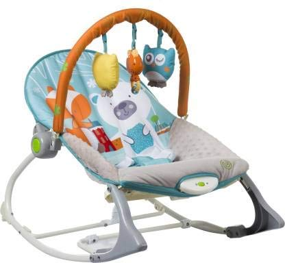 INFANTSO Baby Rocker & Bouncer Foldable, Portable with Calming...