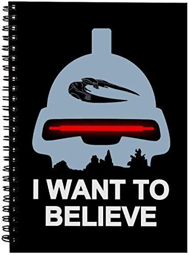 JDFKK A4 Spule Notebook, Glaube An Toaster Battlestar Galactica Spiral Notebook, 3Er Pack