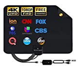 Antenna TV Digital HD Indoor - 2020 Newest Digital Antenna for HDTV 120 Miles Range, Support 4K 1080p, HDTV Antenna Indoor with 18ft Coax Cable by SohoTech