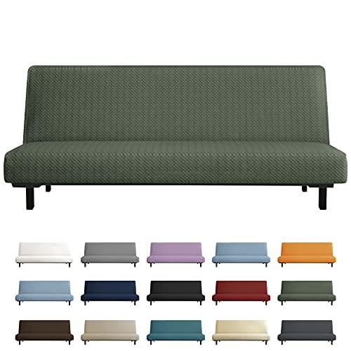 YEMYHOM Futon Cover Latest Jacquard Design High Stretch Armless Sofa Bed Slipcover Anti-Slip...
