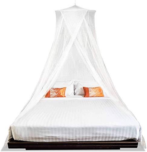 FANDE Moskitonetz, Universal Dome Moskitonetz, einfache Installation, Aufhängen, Baldachin, schnelle einfache Installation, Moskitonetz für Einzel- bis Kingsize-Betten.