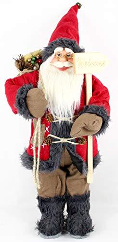 Pupazzo di Babbo Natale, statuetta decorativa di Babbo Natale, ca. 60 cm, 4 diversi modelli a scelta, Toni.