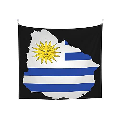 Uruguay Flaggen Tapisserie Wandbehang Tarot-Tarot Boho Beliebte Mystic Trippy Yoga Hippie Wandteppiche für Wohnzimmer Schlafzimmer Wohnheim Heimdekor Schwarz & Weiß Stranddecke
