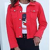 LJLLINGA Chaquetas de Mezclilla Abrigo Azul para Mujer Chaquetas de Mezclilla para Mujer Jeans Abrigos de...