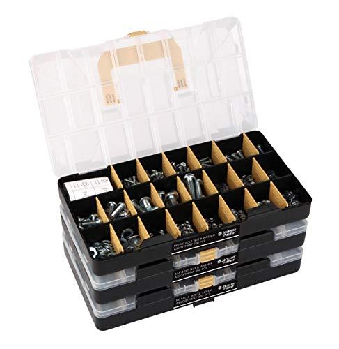JACKSON PALMER 1,300 Piece Hardware Assortment Kit (3 Trays)