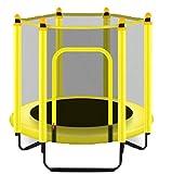 NOOYC Trampoline Pliable, Enfants Mini d'Intérieur Jumping Fitness Trampoline d'exercice, Para cualquier espacio de entrenamiento en CASA u oficina,Yellow_47in/120cm