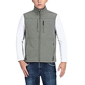 Men's Running Vest Outerwear, Lightweight Windproof Fleece-Lined Soft...