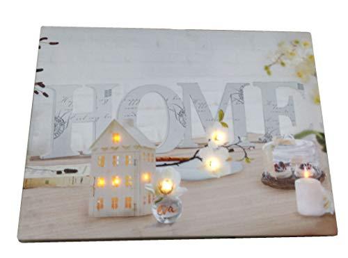 joka international GmbH Leinwandbild LED beleuchtend Dekoration Home Wandbild, 40x30 NEU 14734