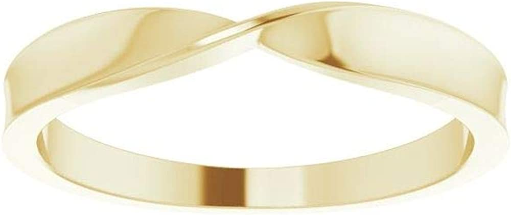 Twisted Stackable Wedding Anniversary Ring Band (Width = 3.1mm)