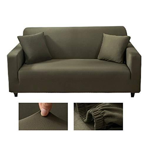 OYZK Massive Farbe Ecksofa Abdeckungen für Wohnzimmer Elastische Spandex-Slipcover Couch Cover Stretch Sofa Handtuch L Formbedarf 2-Stück kaufen (Farbe : 22, Specification : 1 seat Sofa)