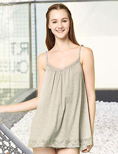 Umstandskleidung, Strahlenschutzweste, 100 % Silberfaser-Spitze, trägt einen Strahlungsanzug, für schwangere Frauen, Haushalt, Freizeitkleidung, Beige, XL