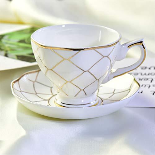 Cups elegant_RG Ensemble de Tasse à café Fait Main en Porcelaine Tendre à la Main en Porcelaine Tendre Set de café en céramique