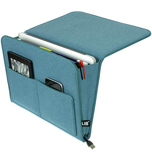 Lib Bedside Caddy, Original Design | Large Size 9.5' x 13.5' | Laptop...
