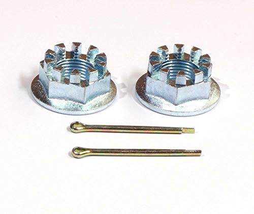 SET OF 2 REAR AXLE CASTLE NUTS & PINS FITS FOR HONDA TRX400EX 400 1999-2008,ATC200X ATC250SX,TRX250EX,TRX250X,TRX300EX,TRX450R,ATC250ES