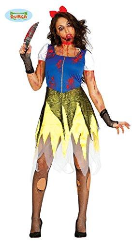 Zombie Schneewittchen Halloween Kostüm für Damen blutig Prinzessin Halloweenkostüm Gr. M-L, Größe:L