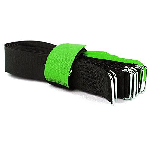 10 fascette in velcro DS con occhiello in metallo – Velcro su lati diversi – 60 cm verde