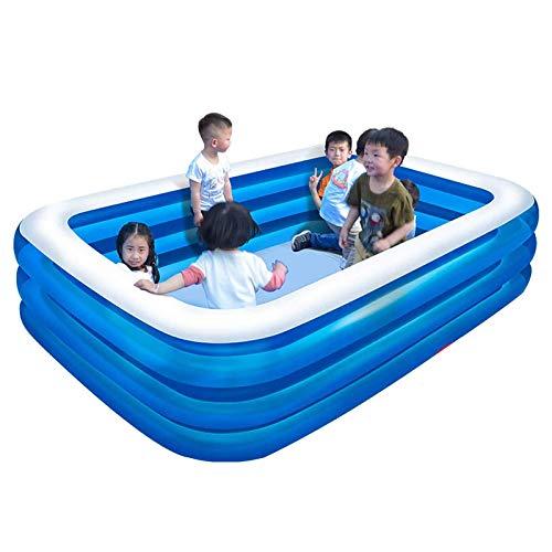 WSDSX Piscina Inflable, tamaño Completo Piscina Infantil Inflable para niños Piscina Rectangular para niños pequeños Niños Adultos y familias sobre el Suelo Patio Trasero al Aire Libre