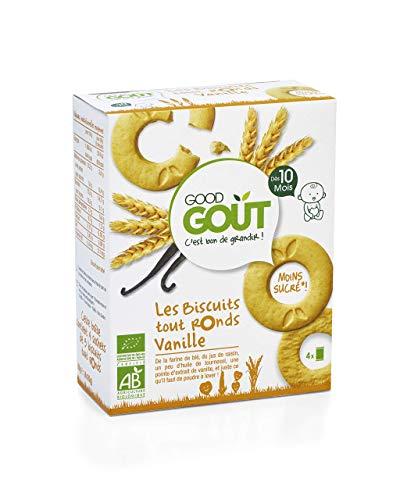 Good Goût - BIO - Biscuits Tout Ronds à la Vanille dès 10 Mois Bio 80 g