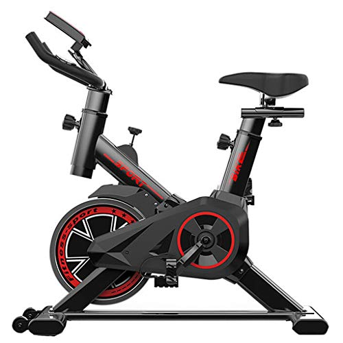 QQAA Bicicleta Estática, Bicicleta De Ciclismo para Interiores Bicicletas Fijas, Bicicleta De Ciclismo para Interiores con Soporte para Tableta, Resistencia Infinita, Pantallas LCD