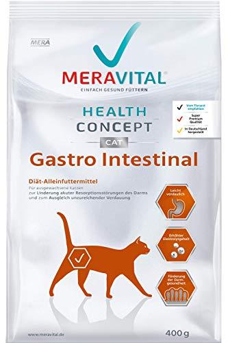 MERAVITAL Gastro Intestinal Katzenfutter trocken 1 x 400 g für Katzen bei Verdauungsstörungen mit hochwertiger Zusammensetzung aus Geflügel & Reis