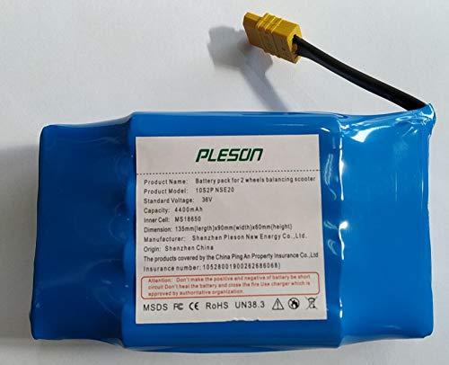 Indalchess Batteria Litio 36V E 4400MAH Compatibile con Hoverboard E Krazy Bike