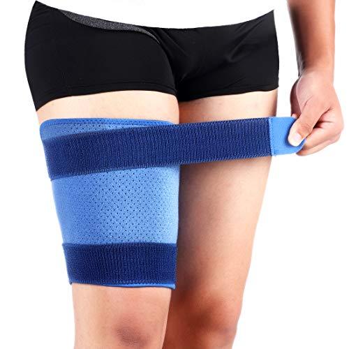 PINCOU Oberschenkelbandage Kompression Hüft oberschenkel Bandage, Stützbandage für die Leiste mit Klettverschluss für Oberschenkel und Lschiasnerven Schmerzlinderung, Einheitsgröße, Männer und Frauen