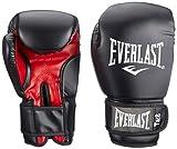 Everlast Rodney 1803 10 oz Gants de Boxe entraînement muscles pectoraux mixte adulte Noir/Rouge 30 cm