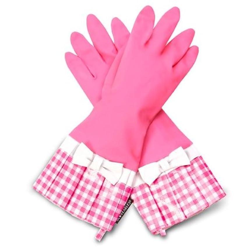 旧正月再開治世GLOVEABLES グローブ ピンク ピンクギンガム リボン付き
