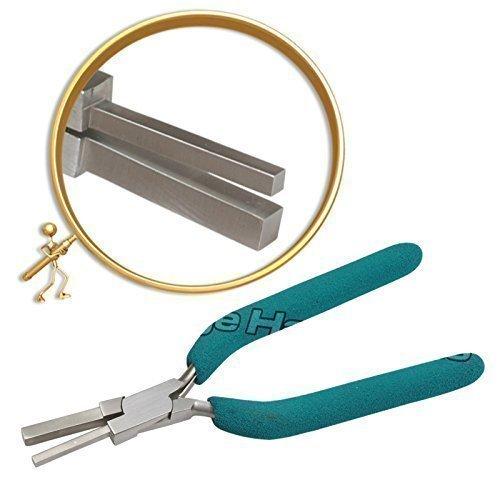 Prestige, pinze a mandrino quadrato da oreficerie multiformato 3 mm e 5 mm.