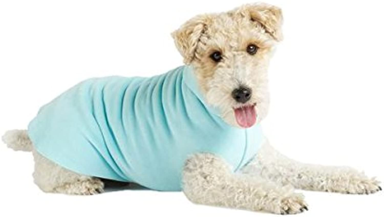 gold Paw Stretch Fleece Dog Coat  Robin's Egg bluee Size 30 by gold Paw Series