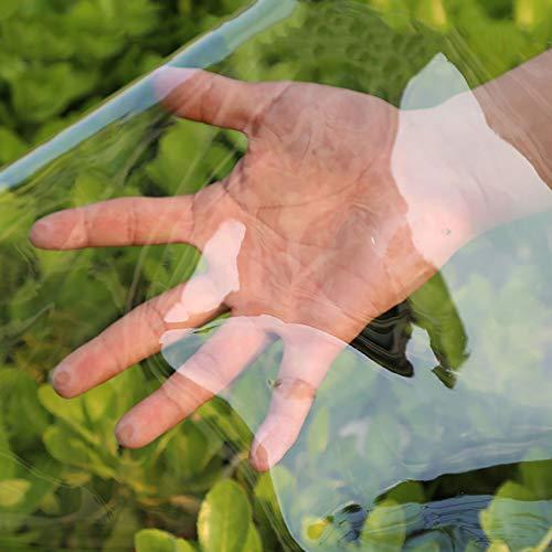 LHL-DD Lonas Transparentes - Lona Impermeable Transparente de Vidrio de 0,35 mm con Ojales de Metal para jardinería, Camping, Viajes, Cubiertas de Suelo