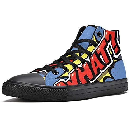 LORVIES - Zapatillas deportivas de lona para hombre, (multicolor), 35.5 EU