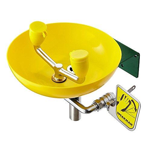 Speakman, Yellow SE-580 Traditional Series Wall-Mounted Emergency Eyewash