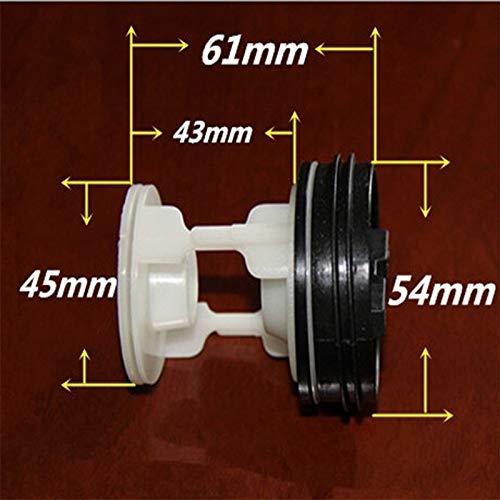 FangFang 1pcs en Forma for Samsung Haier Little Swan TCL Lavadora de Drenaje Tapa de la Bomba de Filtro Lavadora Tapón de Vaciado de Piezas