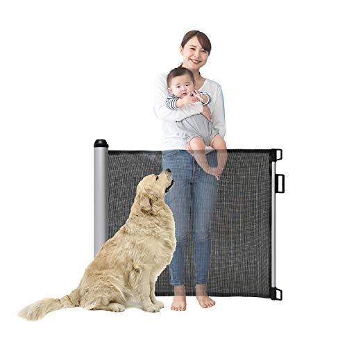 ベビーゲート ペットゲート 出産祝い 赤ちゃん ベビー 新生児 ベビーガード 階段上設置可能 ペットフェンス ベビーフェンス (ブラック)