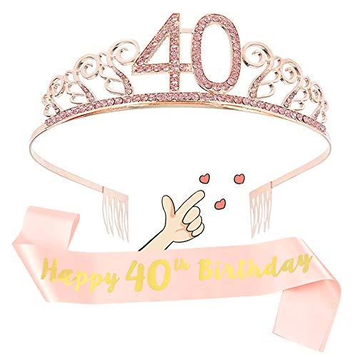 cappello 40 anni compleanno 40 Anni Compleanno Cintura Etiquette e Corona Diadema