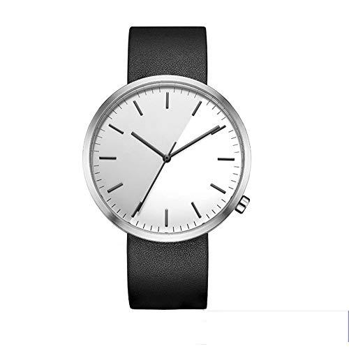 irugh Reloj de Cuarzo, cinturón de Gama Alta, Reloj de diseño único, Movimiento Suizo de los Hombres, 50 Metros, Impermeable, Simple.
