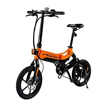 SWAGTRON EB7 Elite Plus Folding Electric Bike with Removable Battery & 7-Speed Gear Shift   Pedal-Assist eBike with Suspension & 16-Inch Tires   350W Motor -Extended 19-Mile Range
