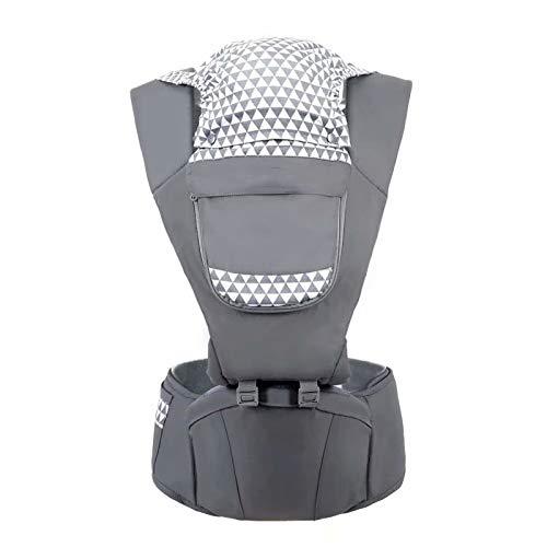 Big Bargain Store pour bébé et enfant de 0 à 3 ans Porte-bébé multi-positions avec siège de hanche Confort et sécurité avec harnais et sangles réglables Tissu respirant en coton et maille avec