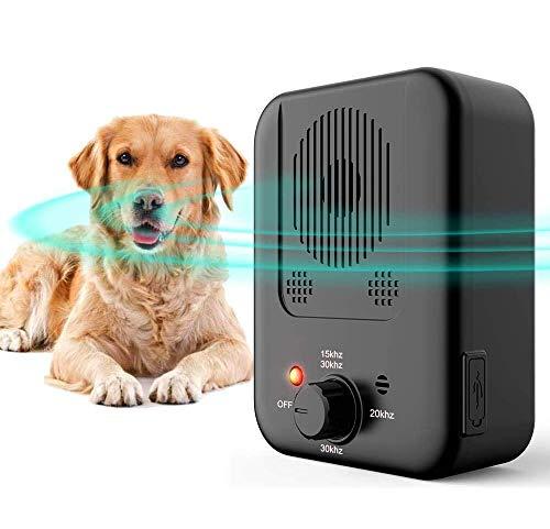 HXWEB Anti Barking Control Device, 2020 Upgrade Ultrasonic Dog Bark Deterrent...