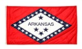 Shop72 US Arkansas State Flags: Arkansas Flag - 3x5  Flag from Sturdy 100D Polyester - Canvas Header Brass Grommets Double Stitched from Wind Side